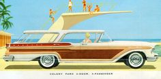 1957 Mercury Colony Park 4 Door Hardtop Station Wagon  by coconv, via Flickr