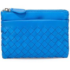 Bottega Veneta Zip-Top Woven Leather Key Pouch
