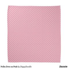 Polka Dots on Pink Bandana