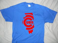 Chicago Cubs State Design by JSDesignsandGraphics on Etsy