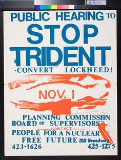 Public Hearing to Stop Trident (1979)