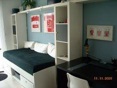 Ikea jugendzimmer junge  kinderzimmer jugendzimmer junge blau weiß einzelbett bettkasten ...