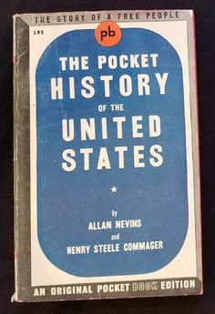 Pocket History of United States Allan Nevens Vtg Paperback 1943 Pocket Book 195