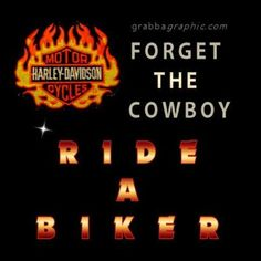 To hell with all the wannabe cowboys - Real men ride Harleys!! or if in the right area, they still ride horses.