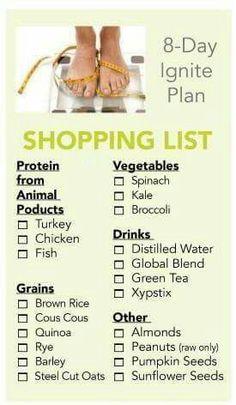 Xyngular Shopping List, Xyngular Plan, Xingular Diet, 8 Day Challenge Xyngular, Xyngular Recipes 8 Day Ignite, Lifestyle Changes, Food Plan, Losing Weight, ...