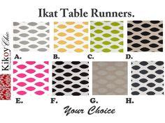 Ikat Table Runner Ikat Table Runner.IKat Table Cloth. by KikoyChic, $15.00