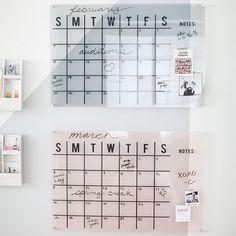 Acrylic Monthly Calendar in Blush $129