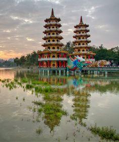 Dragon and Tiger Pagodas - Kaohsiung, Taiwan