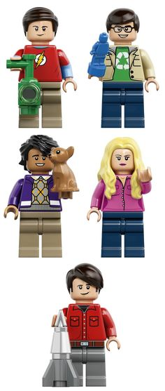 The 479-piece set features the main characters from The Big Bang Theory - Leonard, Sheldon, Howard, Penny, Raj and Bernadette