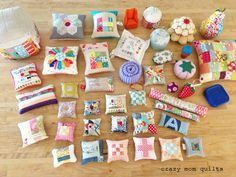 crazy mom quilts: pincushions galore