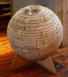 This sphere is made of books and can be seen at the Minnesota center for book Art(Minneapolis) !  Artist: John Marshall