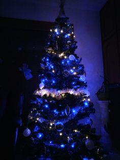 Sapin de Noël 2016!! Bleu et argenté cette annee ❄