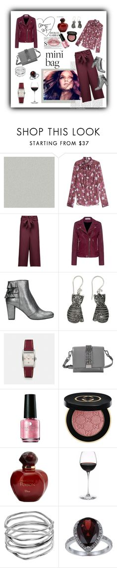"""""""Burgundy & Mini Bag"""" by farradaymg ❤ liked on Polyvore featuring York Wallcoverings, Carven, TIBI, IRO, Chie Mihara, NOVICA, Coach, Karl Lagerfeld, Gucci and Christian Dior"""