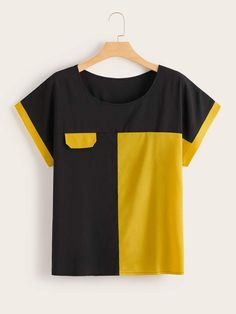 To find out about the Plus Contrast Panel Tee at SHEIN, part of our latest Plus Size T-shirts ready to shop online today! Fashion News, Fashion Outfits, Womens Fashion, Plus Size Tips, Fashion Sewing, Lingerie Sleepwear, Plus Size Blouses, Sewing Clothes, Refashion