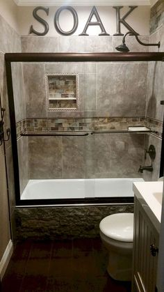 Incredible Small Master Bathroom Remodel Ideas 9 & Wide plank tile for bathroom. Great grey color! Great option if you ...