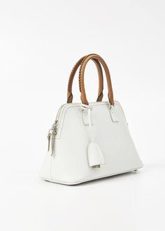 Maison Margiela Small Leather 5AC Handbag (White)