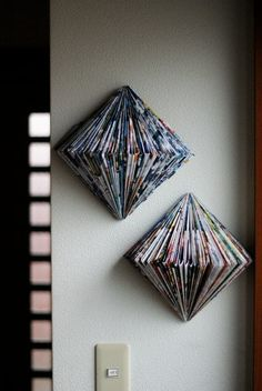 What a beautiful way to recycle old magazines