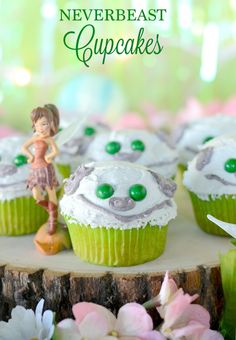 Neverbeast Cupcakes!!  Inspired by Disney's TinkerBell and the Legend of Neverbeast. Available on Blu-ray™, Digital HD & Disney Movies Anywhere March 3.