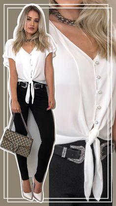 72 shirts blouses that look fantastic 37 Cute Fashion, Womens Fashion, Fashion Trends, Floral Pants Outfit, Shirt Refashion, Shirt Blouses, Shirts, Ideias Fashion, Kimono