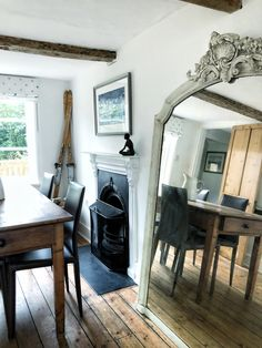 A Old Cottage Renovation - Naomi Stuart's Real Home Tour - The Interior Editor Simple Ranch House Plans, House Plan With Loft, Old Fireplace, Victorian Fireplace, Old Cottage, Victorian Cottage, Installing A Fireplace, Small Beach Houses, Cottage Dining Rooms