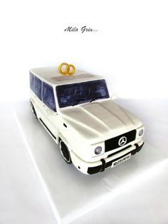 "Wedding cake  ""MERCEDES G-Class"" by Mila - http://cakesdecor.com/cakes/256450-wedding-cake-mercedes-g-class"