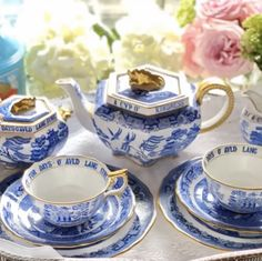 Willow Pattern, Tea Pots, Dishes, Tableware, Blue, Dinnerware, Tablewares, Tablewares, Tea Pot