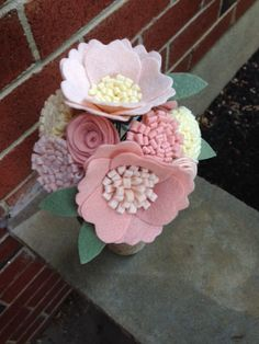 Custom Mix: Felt Flower Bunch by PromisePetals on Etsy