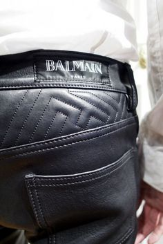 balmain leather