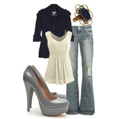 subdued gray outfit