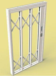 SILIGHT 1 A -inferriata di sicurezza in acciaio inox rivestia in alluminio, adatta sia per finestre che per porte