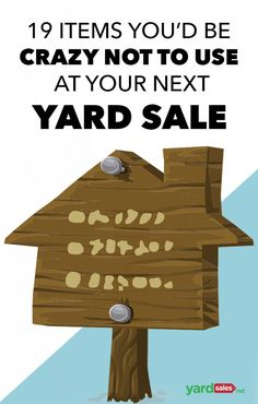 Great tips for that yard sale before you move to declutter before moving to your new home! Here's a list of yard sale supplies you'll want to have on hand to ensure that your next yard sale is the most successful yard sale to date. Garage Sale Pricing, Garage Sale Tips, Yard Sale Signs, For Sale Sign, Garage Sale Organization, Organizing, Organization Ideas, Rummage Sale, Yard Design