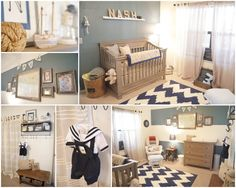 Project Nursery - Boy Nautical Room Collage