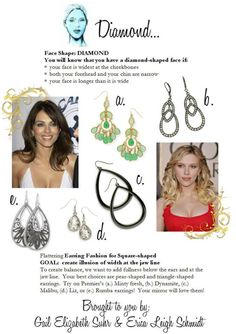 Did you know certain earrings flatter your face better? Diamond face tips
