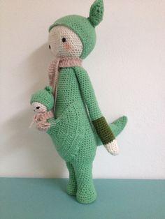Kangaroo Kira. Kooppatroon van Lalylala. Haken. Crochet. Diy
