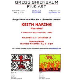 Keith Haring Exhibit opens at Gregg Shienbaum Fine Art November 12!  Www.gsfineart.com
