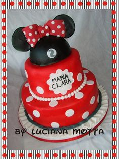 Bolo Minnie III (Minnie Mouse Cake #3) by POLKA DOT CAKES by Luciana_Motta, via Flickr #EasyPin