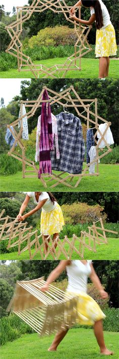 DIY Star Shaped Clothes Drying Rack - A Piece Of Rainbow