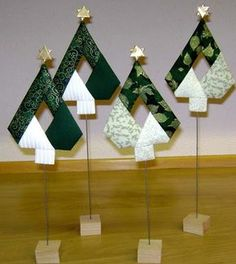 s language = English && vispic = 3079 www. s language = English && vispic = 3079 Quilted Christmas Ornaments, Fabric Ornaments, Christmas Origami, Christmas Hanukkah, Christmas Art, Christmas Sewing Projects, Christmas Crafts For Kids, Holiday Crafts, Christmas Decorations