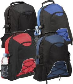#PROMOTIONAL GIFT - HADLOW BACKPACK RUCKSACK 420D Ripstop & 600D Polyester with Reflective Piping Features Zip Front Pocket & Main Compartment, Earphones Outlet & Internal Pocket for MP3 Player
