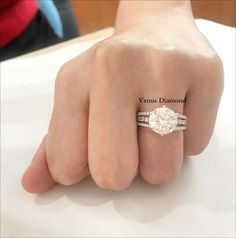 Round diamond Ring 4.34 carat/Hcolor/VVS2