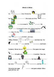 English worksheet: Winnie in Winter