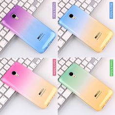 패션 소프트 tpu 그라데이션 컬러 백 커버 케이스 meizu m2 mini/m3s 미니/m1/m2/m3/mx4/mx5/mx5 프로/mx6