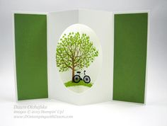 Sheltering Tree Tunnel card Fun Fold HSDT video series by Dawn Olchefske #dostamping #stampinup