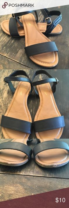 Sandals Great condition. Flaw is scuffing on front since I am a klutz. Other than that perfect. Not American eagle American Eagle Outfitters Shoes Sandals