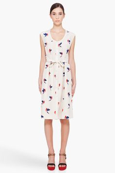 marc by marc jacobs finch print dress
