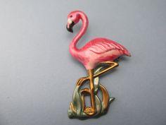 Rosa Flamingo Brosche Vogel Brosche Anweisung von MyElegantThings
