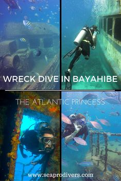 Underwater exploration of a wreck in process...  Visit the different rooms of the Atlantic Princess shipwreck in the Caribbean sea on this amazing trip from Punta Cana to Saona Island.