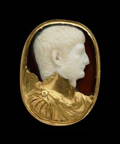 Sardonyx cameo with portrait bust of Germanicus. Roman. Imperial Period. Early…
