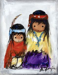 "DeGrazia said ""I only paint eyes on the children in my paintings, because…"