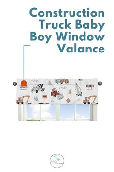 Construction Truck Window Valances will help complete the look of your Sweet Jojo Designs room. This valance softens the look of the window and obscures pulled up blinds. It will coordinate nicely with your Construction Truck Theme bedding or can be used as an accent with your own room design. Shop and complete you Truck Transportation theme nursery room.#windowvalance www.babysrownroom.com Baby Boy Room Decor, Boy Decor, Baby Boy Rooms, Kids Rooms, Truck Nursery, Nursery Room, Room Themes, Nursery Themes, Kids Bedroom Designs